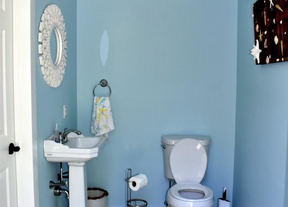 Bathroom of Interior of 18' x 22' Custom Century Pool House  in Gwynedd Valley PA