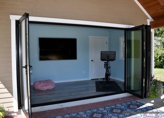 Interior of 18' x 22' Custom Century Pool House  in Gwynedd Valley PA