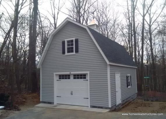 18 x 24 Classic 2 story dutch barn with garage door