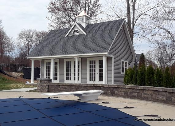 18' x 24' Heritage Liberty Pool House in New Jersey