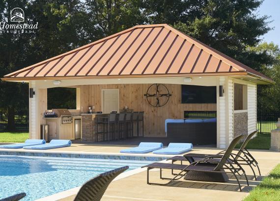 20' x 24' Custom Avalon Pool House with Bar in Lumberton NJ