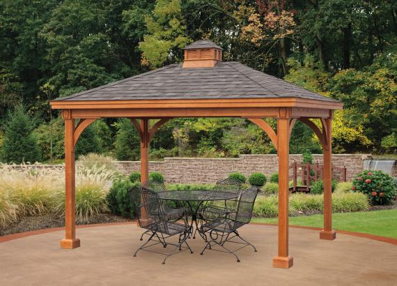 Keystone Wood Pavilion with wood cupola