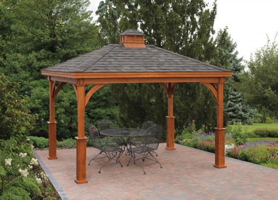 Keystone Wood Pavilion with Superior posts
