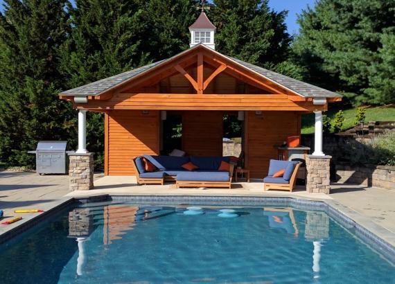 18x22 Timberframe Avalon Pavilion Pool House