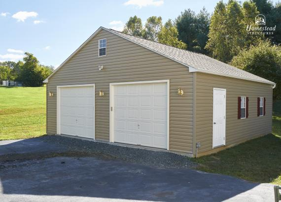 28' x 28' 2-Car Keystone Garage in MD