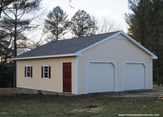 28' x 30' 2-Car Classic Truss Garage in Millersville, PA