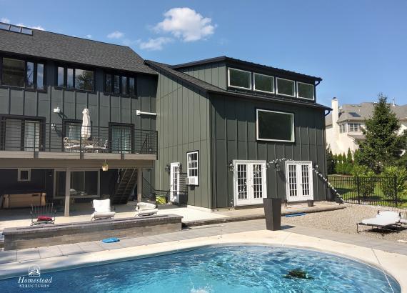 50x25 2-Story Custom Classic Pool House & Garage Combo in PA