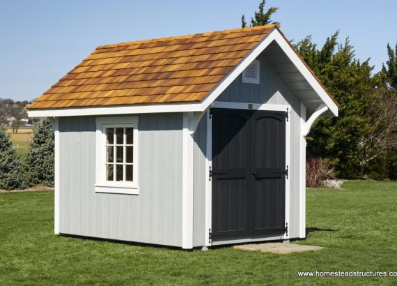8' x 10' Premier Garden Shed with cedar shake roof