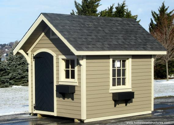 8' x 10' Premier Garden Shed with Chevron door