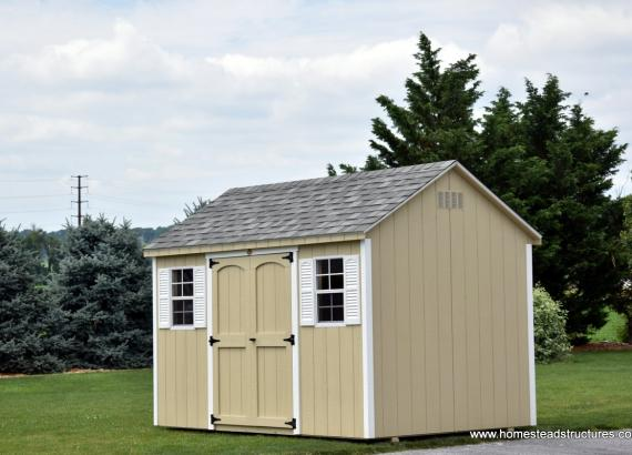 8' x 12' Keystone A Frame Shed in Almond Color