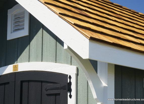 8x12 Premier Garden shed bracer details