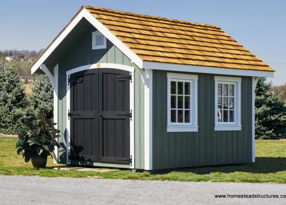 8' x 12' Premier Garden Shed with interior loft