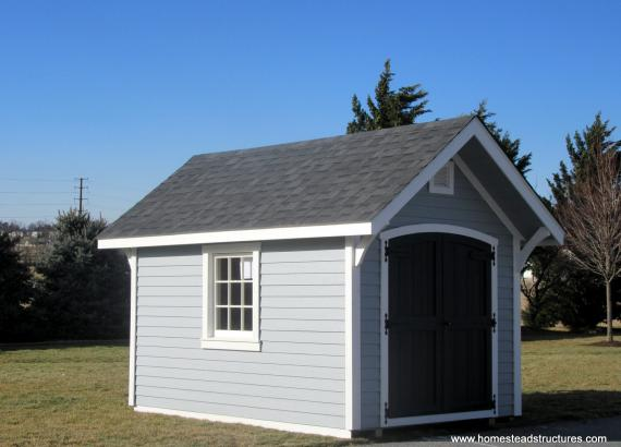 8' x 12' Premier Garden A-Frame Shed in Light Gray