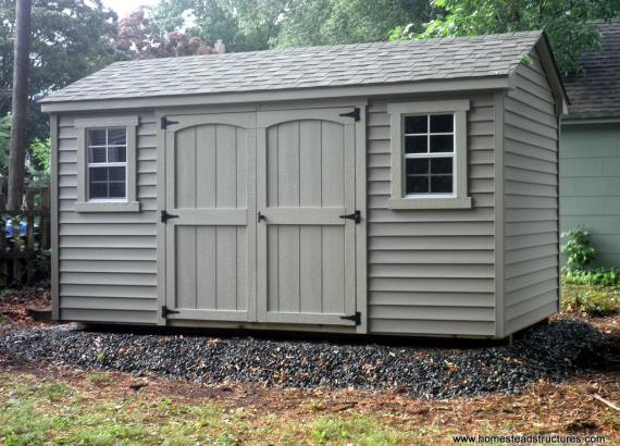 8' x 14' Keystone A-Frame Shed with vinyl siding