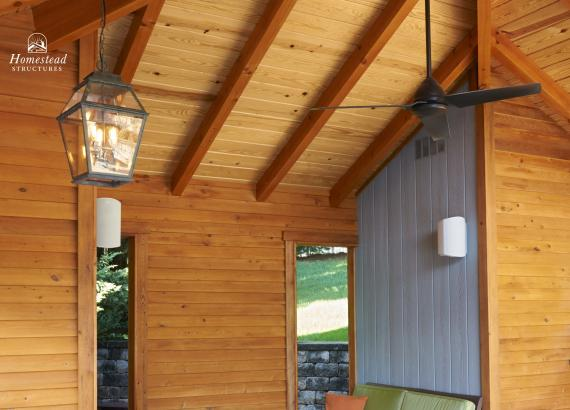 T&G Pine Ceiling & Lighting and Fan Options
