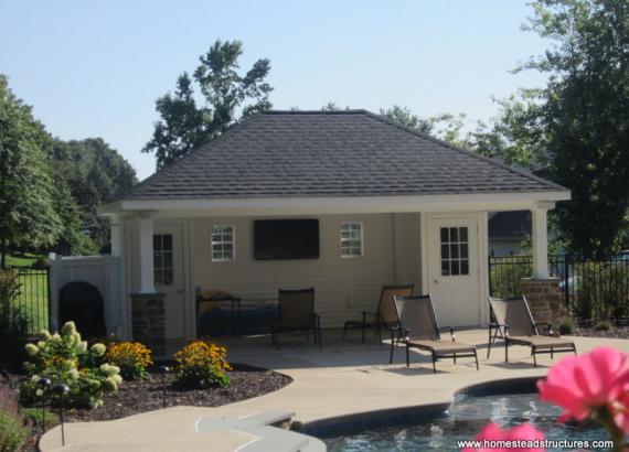 16 x 22 Avalon Pool House (vinyl siding)