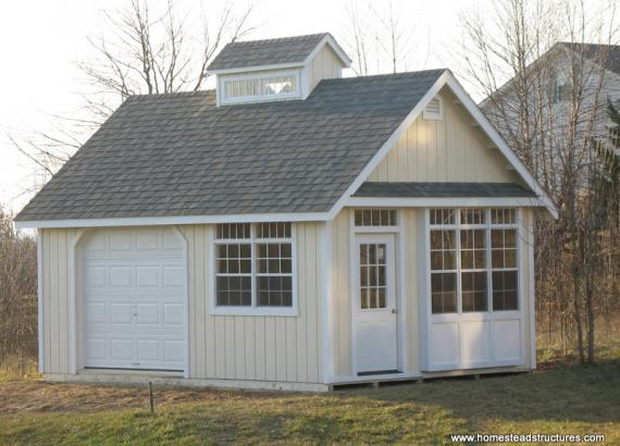 14 x 20 Liberty A Frame Shed (D-temp Siding)