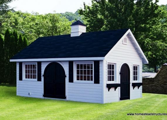 12' x 20' Century A-Frame Shed (Horizontal German Pine Siding)