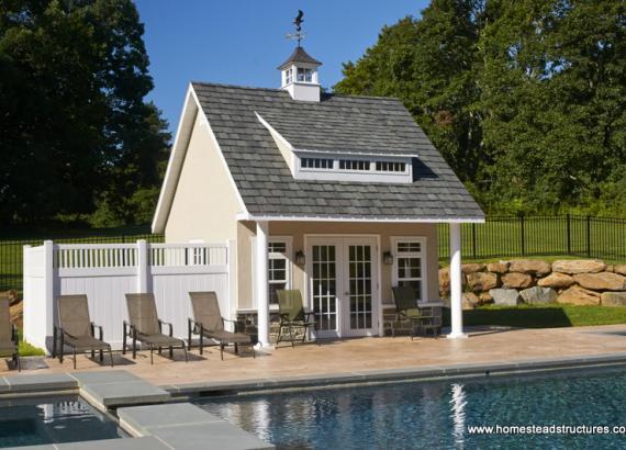 17' x 14' Heritage Pool House (stucco siding)
