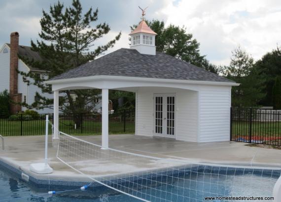 14' x 20' Avalon Pool House (vinyl siding)
