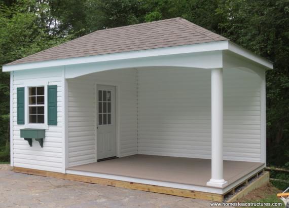 10' x 18' Avalon Pool House (vinyl siding)