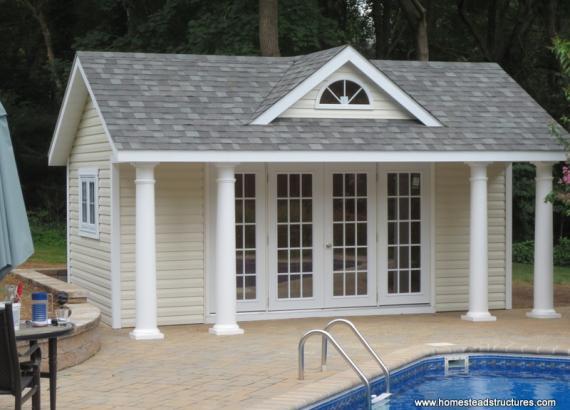12' x 18' Heritage Classic A Frame Poolhouse (vinyl siding)