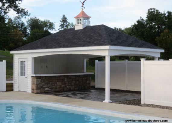 14' x 24' Avalon Pool House (with vinyl siding)