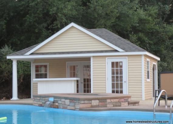 16' x 22' Wellington Pool House (vinyl siding)