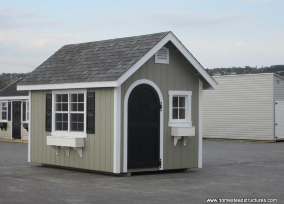 8 x 12 Classic A Frame Shed (D-Temp Siding)