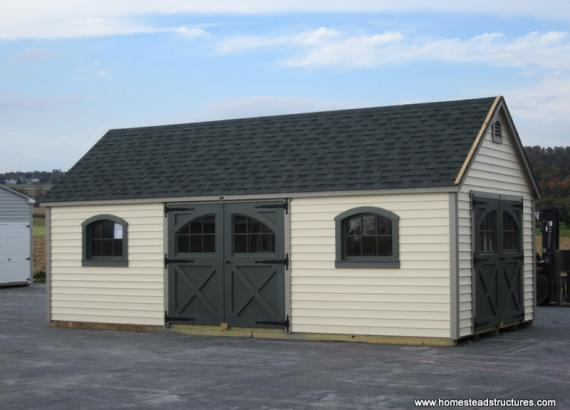 12 x 24 Laurel A Frame Shed (Vinyl Siding)
