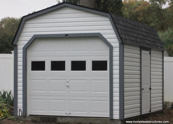 10 x 14 Laurel Dutch Barn Garage (Vinyl Siding)
