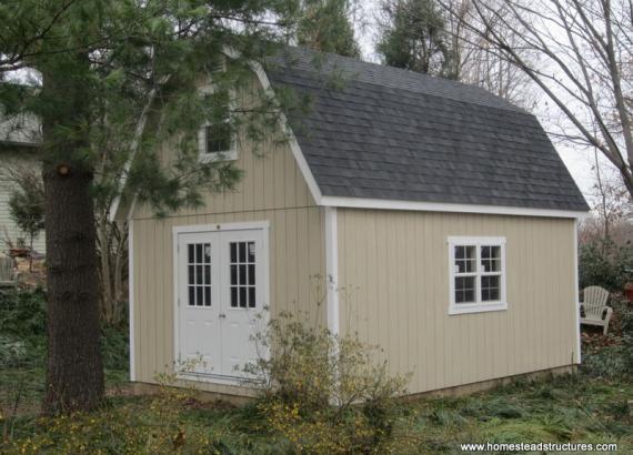 14 x 20 Liberty Dutch Barn Shed (Dura Temp Siding)