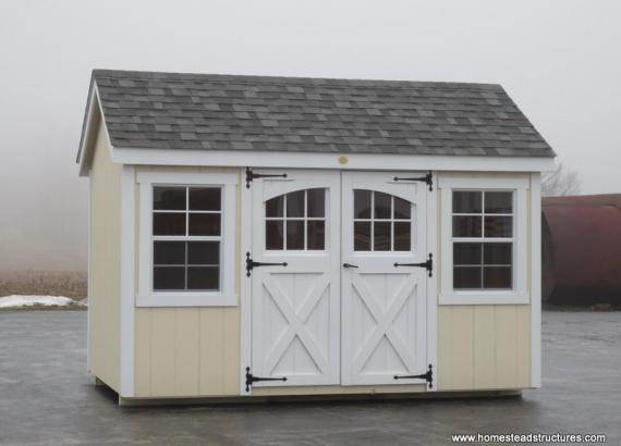 8' x 12' Laurel A Frame Shed (D-Temp Siding)