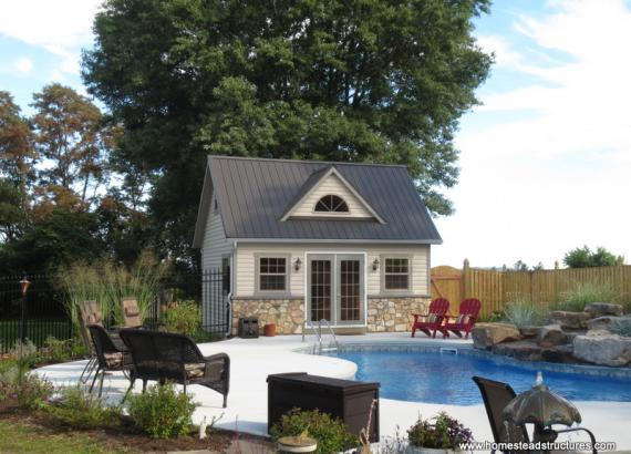 14' x 18' Heritage Pool House (vinyl siding)
