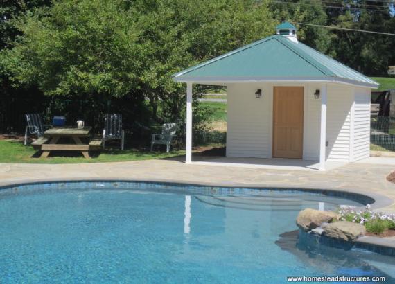 12' x 18' Avalon Pool House (vinyl siding)