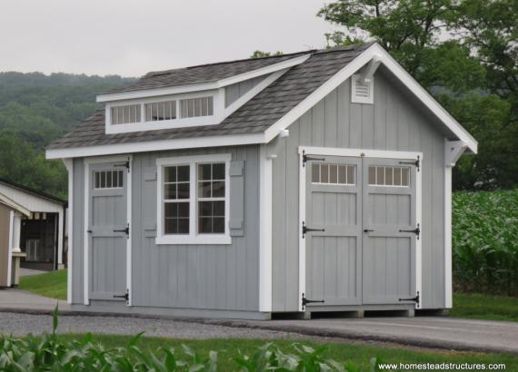 10' x 14' Classic A-Frame Shed with Accent Braces (D-temp Siding)