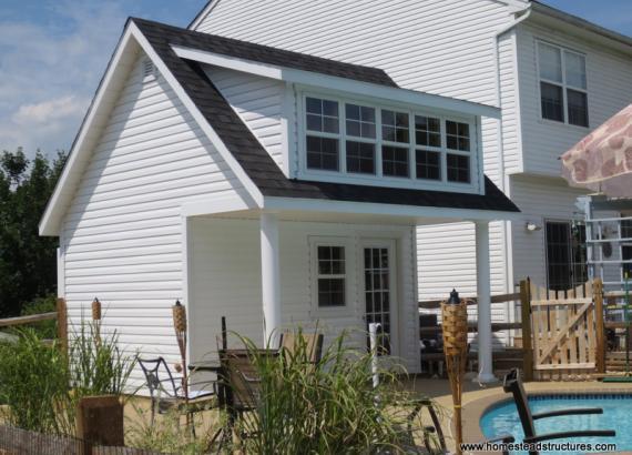 16' x 14' Heritage Pool House (vinyl siding)