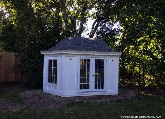 10' x 16' Garden Belle (Hexagonal Shed) with door & window upgrades