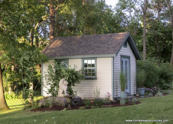 12' x 14' Classic A-Frame Garden Shed (Cypress Clapboard Siding)