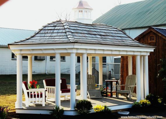 Belvedere Pavilion with floor