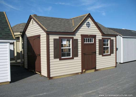 12' x 16' Laurel Chalet Shed (Vinyl Siding)