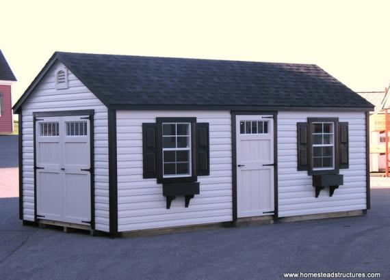 10' x 18' Laurel A Frame Shed (Vinyl Siding)