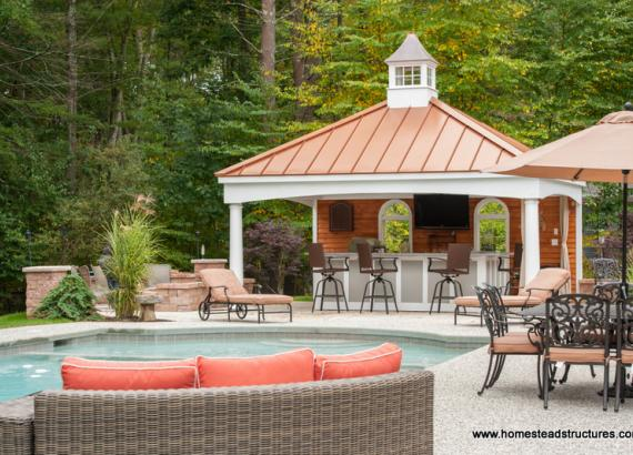 Custom Avalon Pool House Pavilion