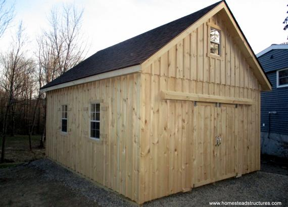 16' x 20' Century A-Frame Shed with board & batten siding