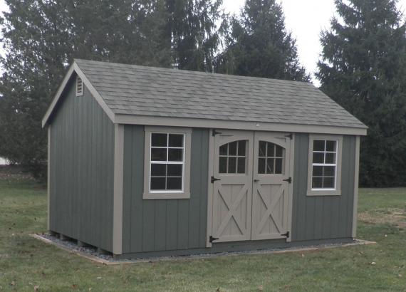 10' x 16' Laurel A-Frame Shed (D-Temp Siding)