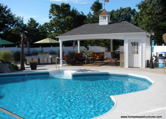 12 x 22 Avalon Pool House (vinyl siding)