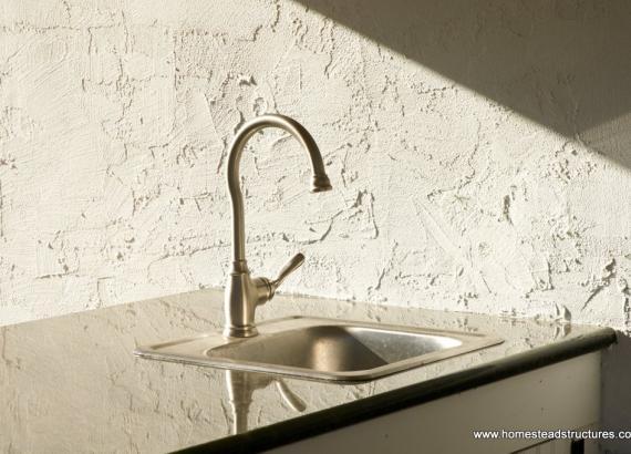 Wellington counter detail built in sink
