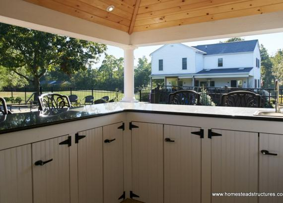 Wellington Pool House bar cabinets for storage