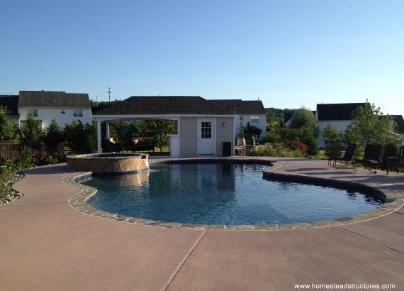12 x 24 Avalon Pool House (vinyl siding)