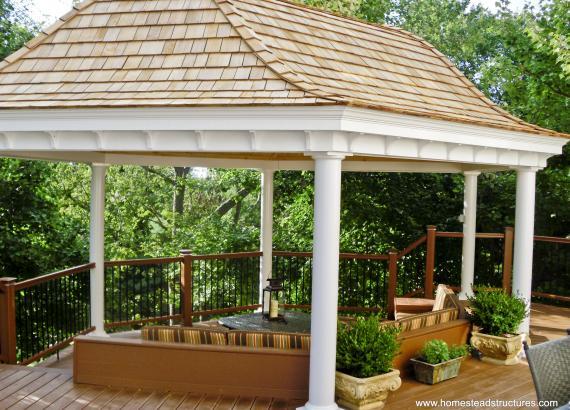 Belvedere pavilion on deck patio